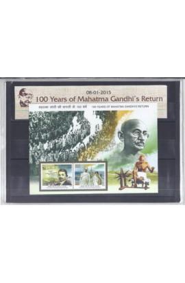 100 years of Mahatma Gandhi s Return Presentation Pack