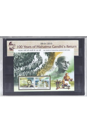 100 years of Mahatma Gandhi s Return Presentation Pack