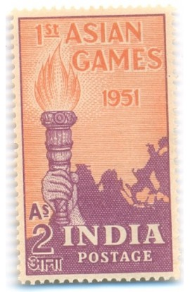 ONE MINT HINGED STAMP OF 1ST ASIAN GAMES 1951