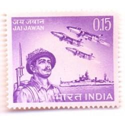 INDIA STAMP 425-B Indian Armed Forces Slogan Jai Jawan 1966 MNH