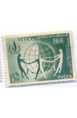 53PHILA457 INDIA 1968 SINGLE MINT STAMP OF INTERNATIONAL YEAR FOR HUMAN RIGHTS MNH