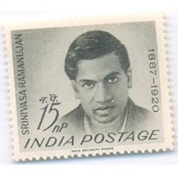 PHILA379 INDIA 1962 SINGLE MINT STAMP OF SRINIVASA RAMANUJAN MNH