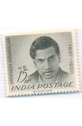 PHILA379 INDIA 1962 SINGLE MINT STAMP OF SRINIVASA RAMANUJAN MNH