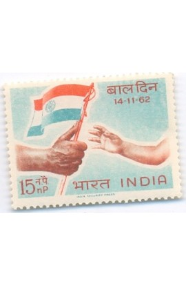 PHILA377 INDIA 1962 SINGLE MINT STAMP OF NATIONAL CHILDREN DAY MNH