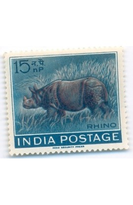 India 1962 RHINO 15 np MNH