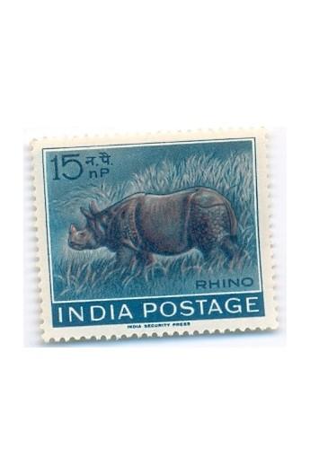India 1962 RHINO 15 np MNH