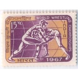 PHILA453 INDIA 1967 SINGLE MINT STAMP OF WORLD WRESTLING CHAMPIONSHIPS MNH