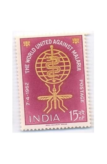 India 1962 World United Against Malaria  MNH