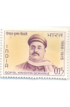 PHILA430 INDIA 1966 SINGLE MINT STAMP OF GOPAL KRISHNA GOKHALE MNH