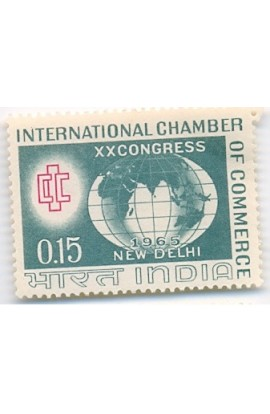 PHILA413 INDIA 1965 SINGLE MINT STAMP OF INTERNATIONAL CHAMBER OF COMMERCE