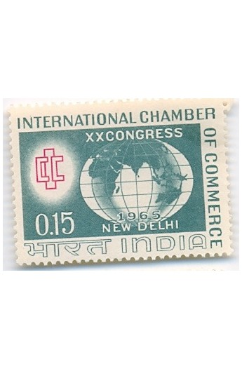 PHILA413 INDIA 1965 SINGLE MINT STAMP OF INTERNATIONAL CHAMBER OF COMMERCE