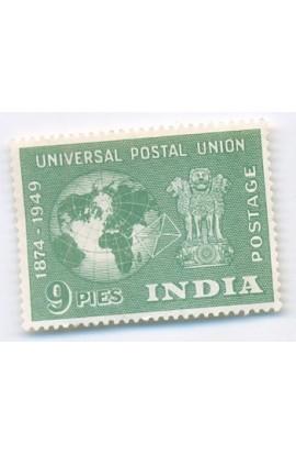 PHILA290 INDIA 1949 SINGLE MINT STAMP OF UPU 9P UNIVERSAL POSTAL UNION MNH