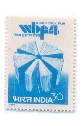 PHILA811 INDIA 1980 WORLD BOOK FAIR MNH